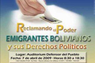 Asociaciones y representantes políticos bolivianos se reúnen para reclamar sus derechos