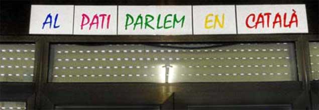 Un colegio de Cornellá impone el catalán en el recreo