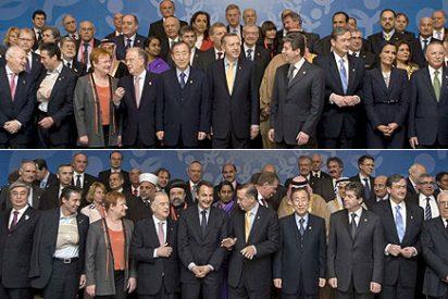 Repiten la foto de la Alianza de Civilizaciones para que salga ZP