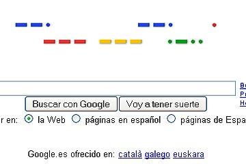 Google escrito en Código Morse