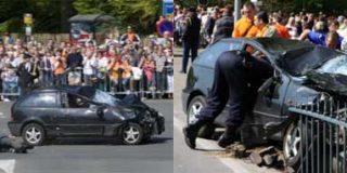 Un coche arrolla al público que esperaba a la Familia Real holandesa
