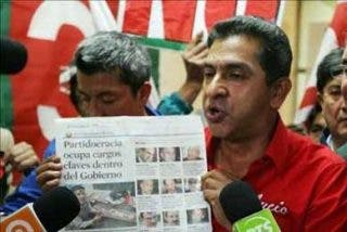 Lucio Gutiérrez dice que exigirá la suspensión del proceso electoral por fraude