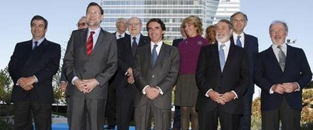 """Aznar y Rajoy """"presumen"""" de Gobierno del 96"""