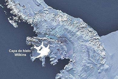La placa Wilkins pierde el puente de hielo que la unía a la Antártida