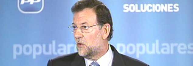"""Rajoy: """"Si no gana el PP, corres el riesgo de palmarla"""""""