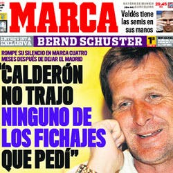 """Schuster: """"Calderón no trajo ninguno de los fichajes que pedí"""""""