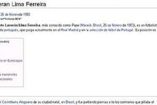 'Wikipedia' retrata a Pepe como un mono violento durante varias horas