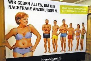 La canciller Angela Merkel inicia una nueva carrera como modelo involuntaria de ropa interior