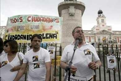 Inmigrantes se manifiestan contra la reforma de la Ley de Extranjería