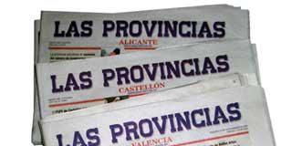 En la calle 33 periodistas de Las Provincias de Valencia