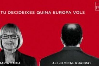 """El PSC usa una imagen Vidal-Quadras para su campaña y le acusa de ir """"en contra de Cataluña"""""""
