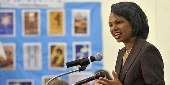 """""""Señora Rice, ¿qué piensa de los métodos utilizados por Bush con los presos?"""""""