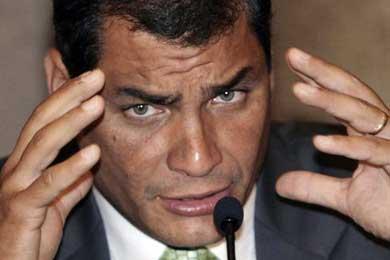 """Correa afirma que """"en su vida"""" ha conocido a nadie de las FARC"""