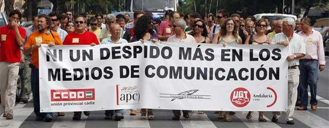 El pesebre mediático andaluz cruje por el desplome del ladrillo