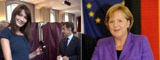 Los sondeos otorgan claras victorias a los partidos de Merkel y Sarkozy