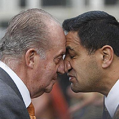 El saludo del Rey Juan Carlos