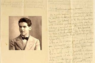 Carta inédita de Federico García Lorca a su familia