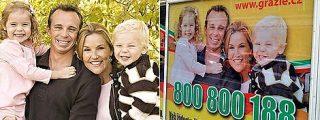 Una familia convertida en anuncio... sin su permiso