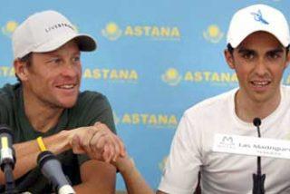 "Armstrong a Contador: ""Ya te dije que tenías mucho que aprender"""