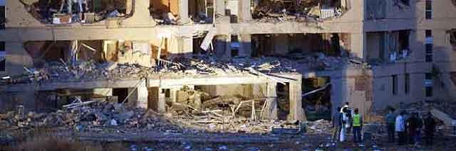 Una furgoneta bomba de ETA explota en la casa cuartel de Burgos y causa 46 heridos leves