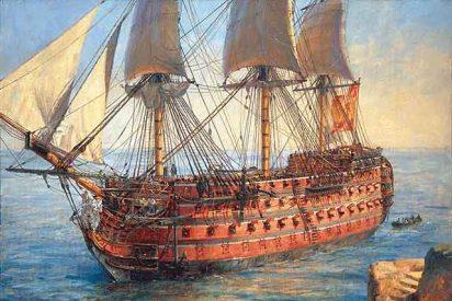 """Hallado el navío """"Santísima Trinidad"""", hundido en la batalla de Trafalgar"""