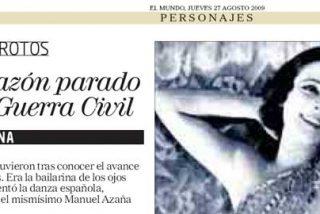 El Mundo confunde a Imperio Argentina con Antonia Mercé