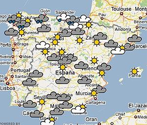 El norte de España está en alerta por lluvias y el este por calor