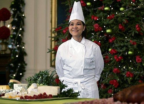 Comida sana para Bush y Obama... gracias a una cocinera inmigrante