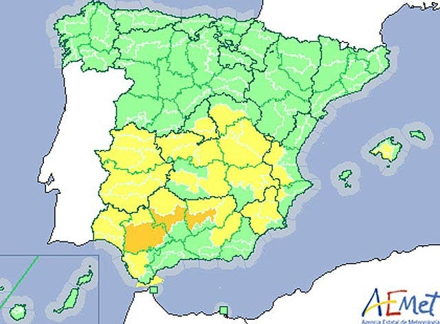Alerta en 14 provincias españolas por riesgo de incendios