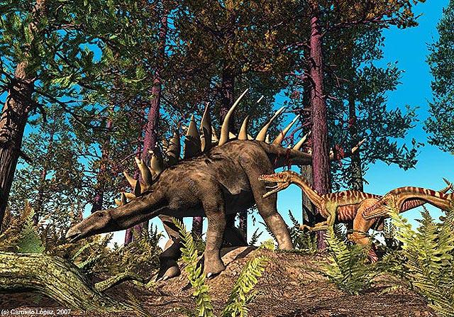 Hallan en Burgos las huellas de estegosaurio más grande del mundo
