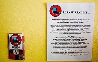 Prohibida la entrada a perros, gatos y ordenadores portátiles