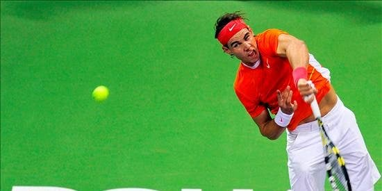 Nadal cruje a Starace en la segunda ronda del torneo de Doha