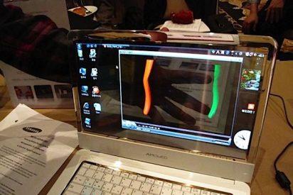 Samsung muestra el primer portátil con pantalla transparente