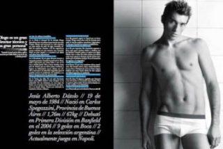 Futbolista argentino en líos por posar para revista gay