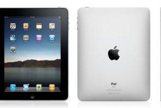 iPad, un iPhone grande con libros electrónicos y ofimática