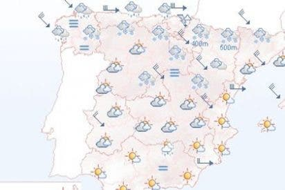 Alerta en el norte de España por viento, lluvia y nieve