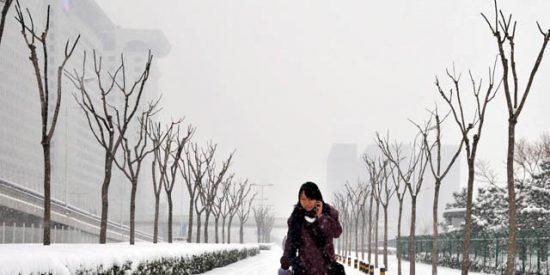 El gigante chino 'se hunde' bajo la nieve