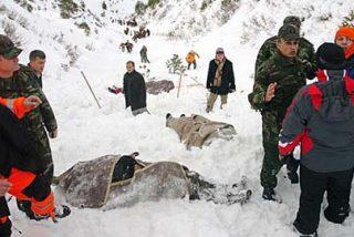 Mueren congelados tres montañeros en el Pirineo aragonés