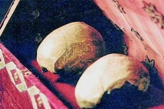 El cráneo de la patrona de Europa es falso