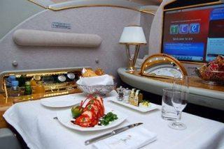 Comida de primera en aerolíneas asiáticas