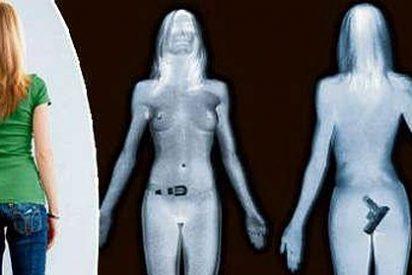 Su cuerpo desnudo fotografiado por escáner en Heathrow hizo las delicias de las trabajadoras