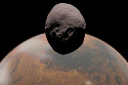 La Mars Express pondrá rumbo a Phobos, una de las dos lunas de Marte