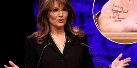Sarah Palin, pillada con una chuleta