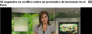 Anuncia un cataclismo en Perú basado en una noticia de El País... ¡de 1981!