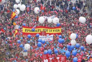 Miles de personas piden en la calle la derogación de la Ley del Aborto