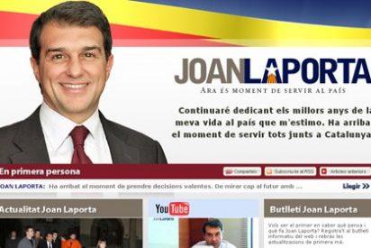 Laporta inicia su ascenso a la política con una web ignorada por todos los partidos catalanes