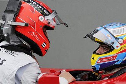 Bronca de Michael Schumacher a Fernando Alonso