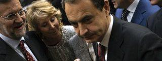 Zapatero y Rajoy se saludan fríamente tras el homenaje del Congreso a las víctimas del 11-M