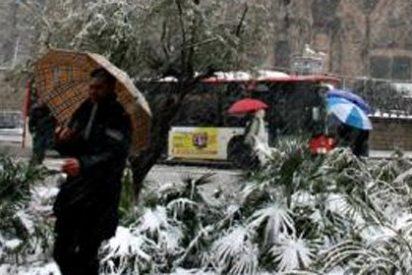 La nieve colapsa Barcelona