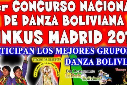 Primer Concurso Nacional de danza boliviana Tinkus en Madrid